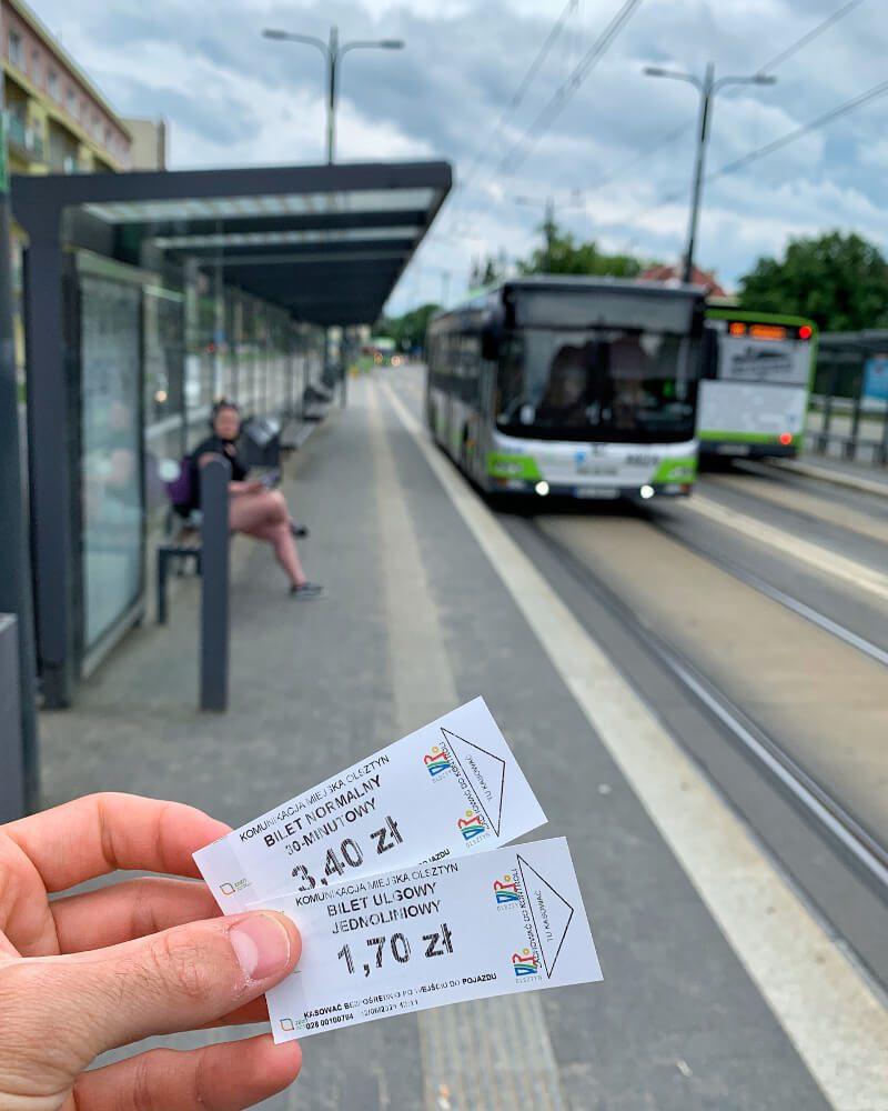 Bilety komunikacja miejska Olsztyn