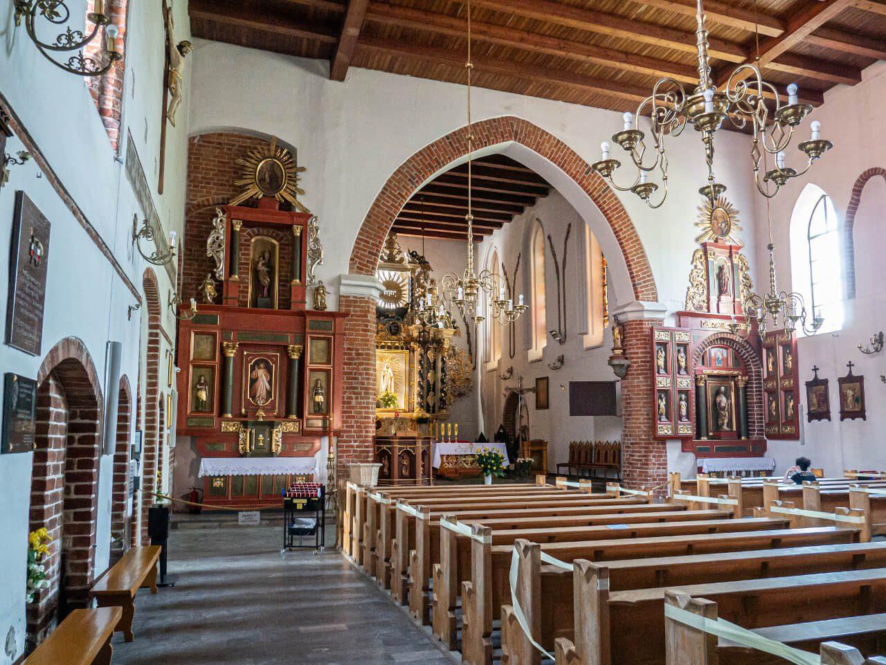 Wnętrze Kościół Przemienienia Pańskiego Iława