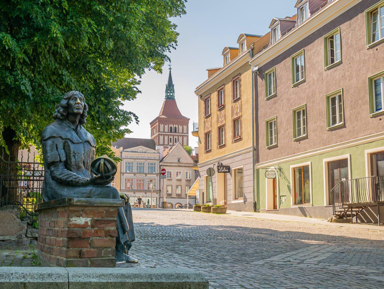 Ławeczka Kopernika Olsztyn Stare Miasto