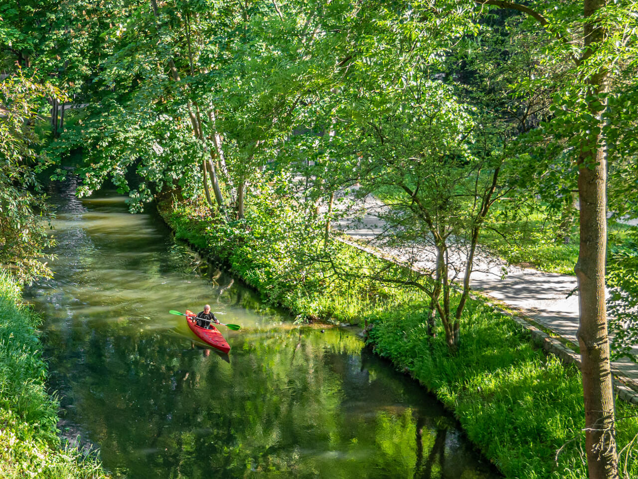 Rzeka Łyna kajak Olsztyn