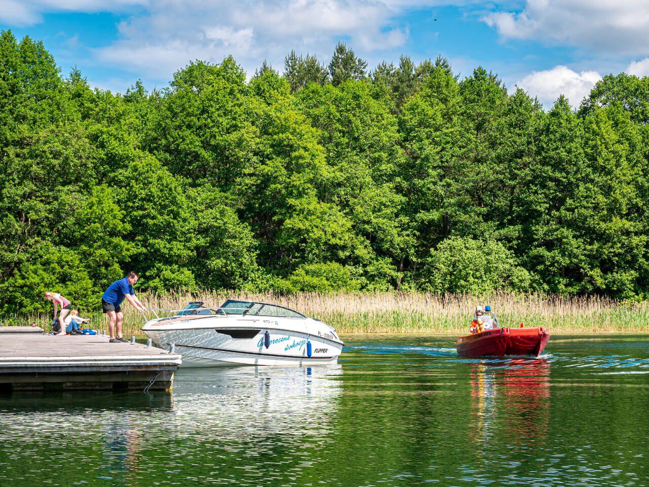 Motorówka Jezioro Ukiel Olsztyn