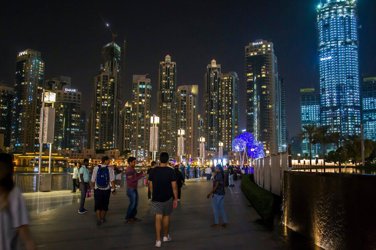 Wieżowce Downtown Dubaj podróż do Dubaju