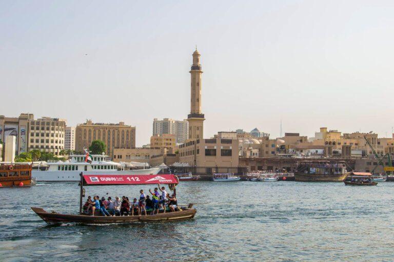Dubai Creek zatoka podróż do Dubaju