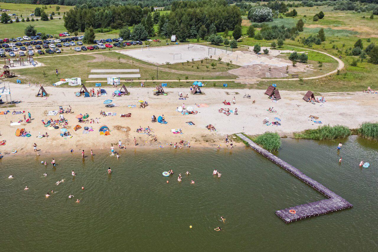 Plaża Zalew Stradomia Wierzchnia Atrakcje Okolice Sycowa