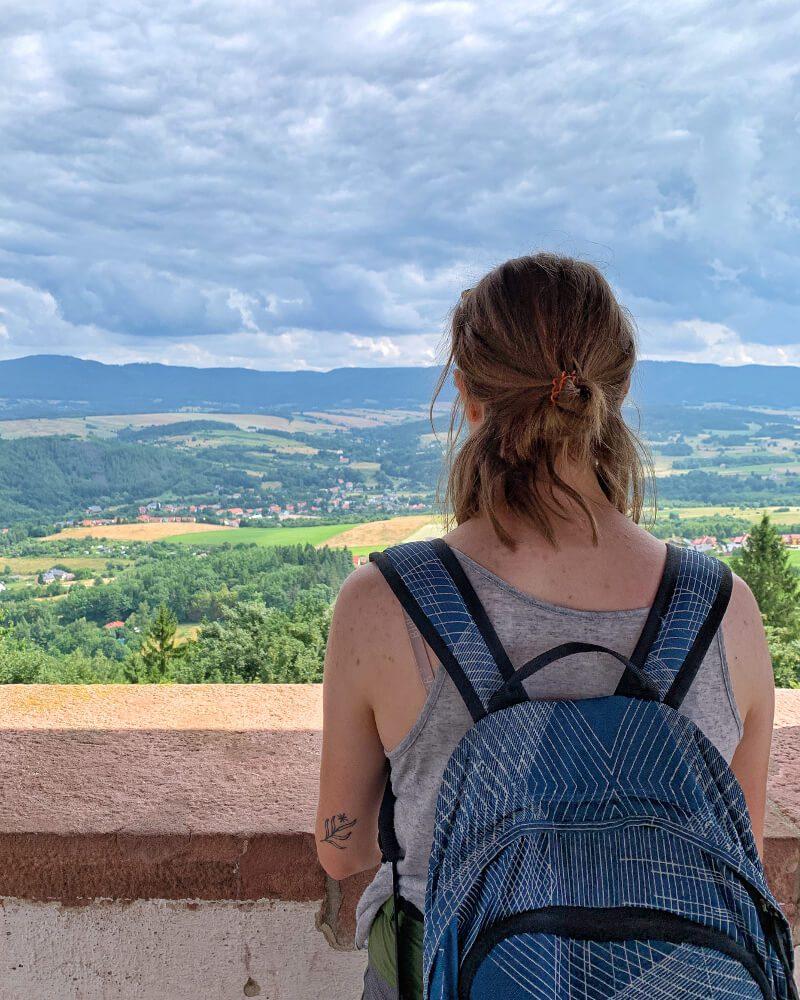 Nowa Ruda wieża widokowa na Górze Świętej Anny panorama miasta