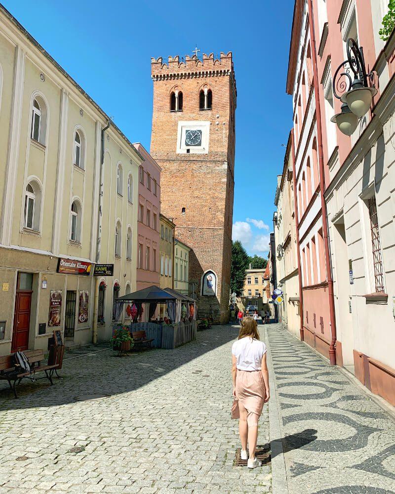 Krzywa Wieża atrakcje Ząbkowice Śląskie blog podróżniczy