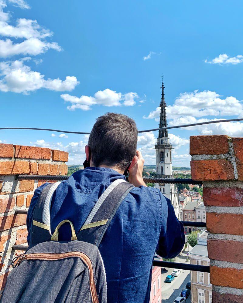 Widok z Krzywej Wieży Ząbkowice Śląskie