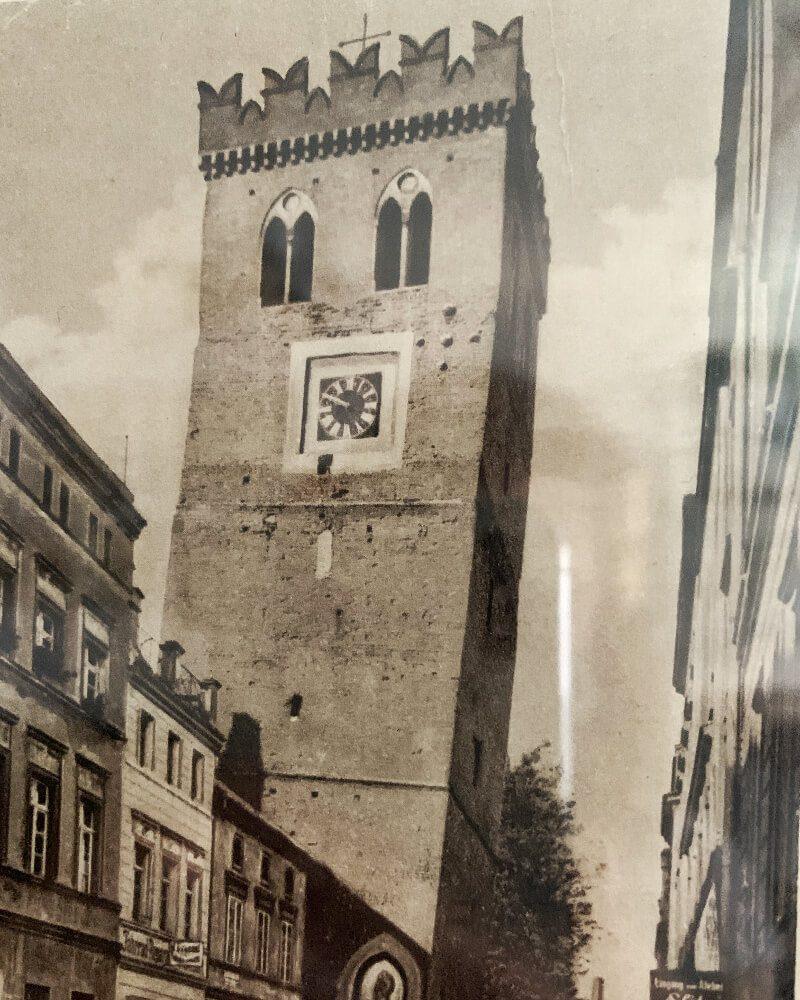 Krzywa Wieża Ząbkowice Śląskie pocztówka