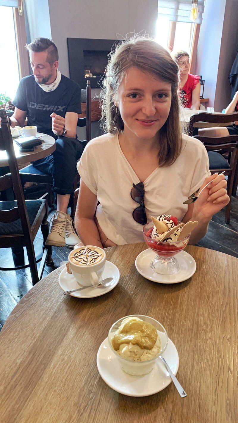 Natalka w cafe pod Krzywą