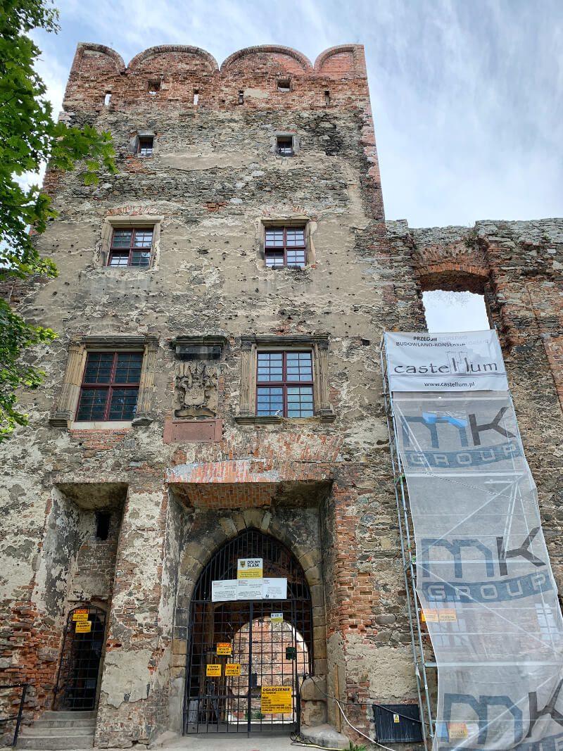 Zamek Ząbkowice Śląskie ruiny wieża