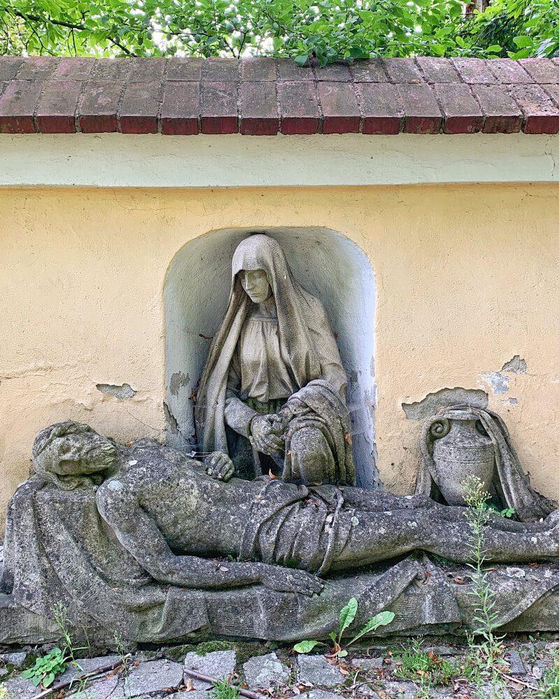 Pieta lapidarium kościół św. Jadwigi