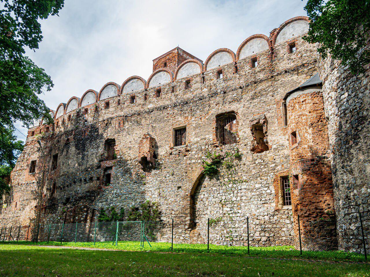 Zamek Ząbkowice Śląskie ściana mur