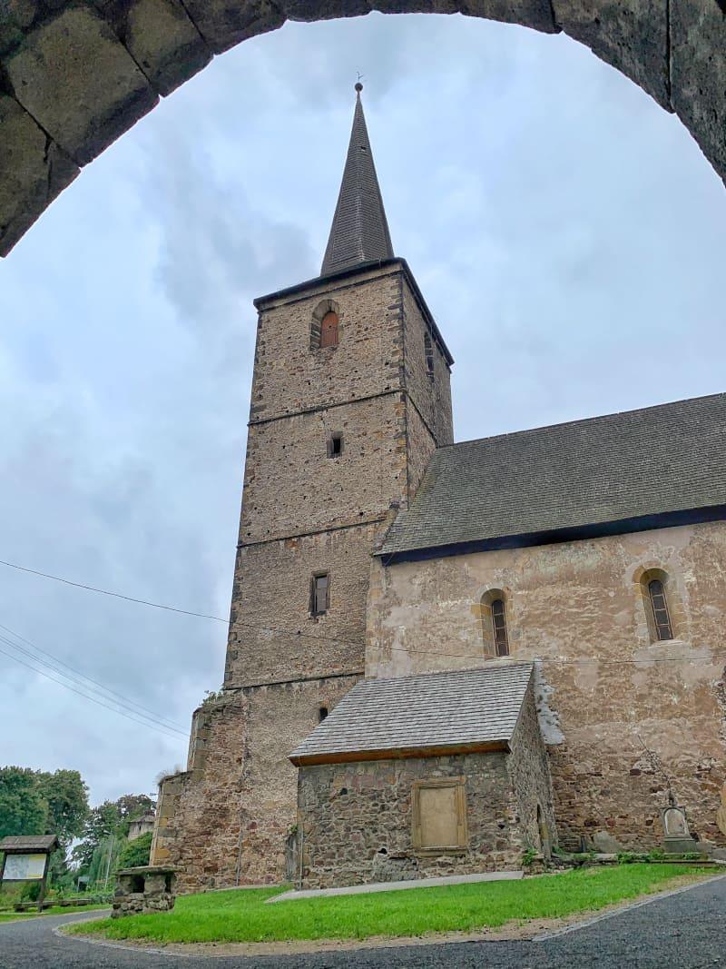 Kościół św. Jana i Katarzyny w Świerzawie Architektura Sakralna Park Krajobrazowy Chełmy2