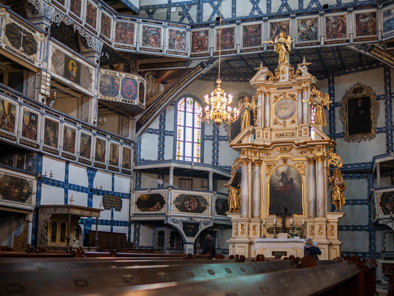 Kościół Pokoju Jawor Zabytek z Listy Światowego Dziedzictwa UNESCO Dolny Śląsk Bogato Zdobione Wnętrze