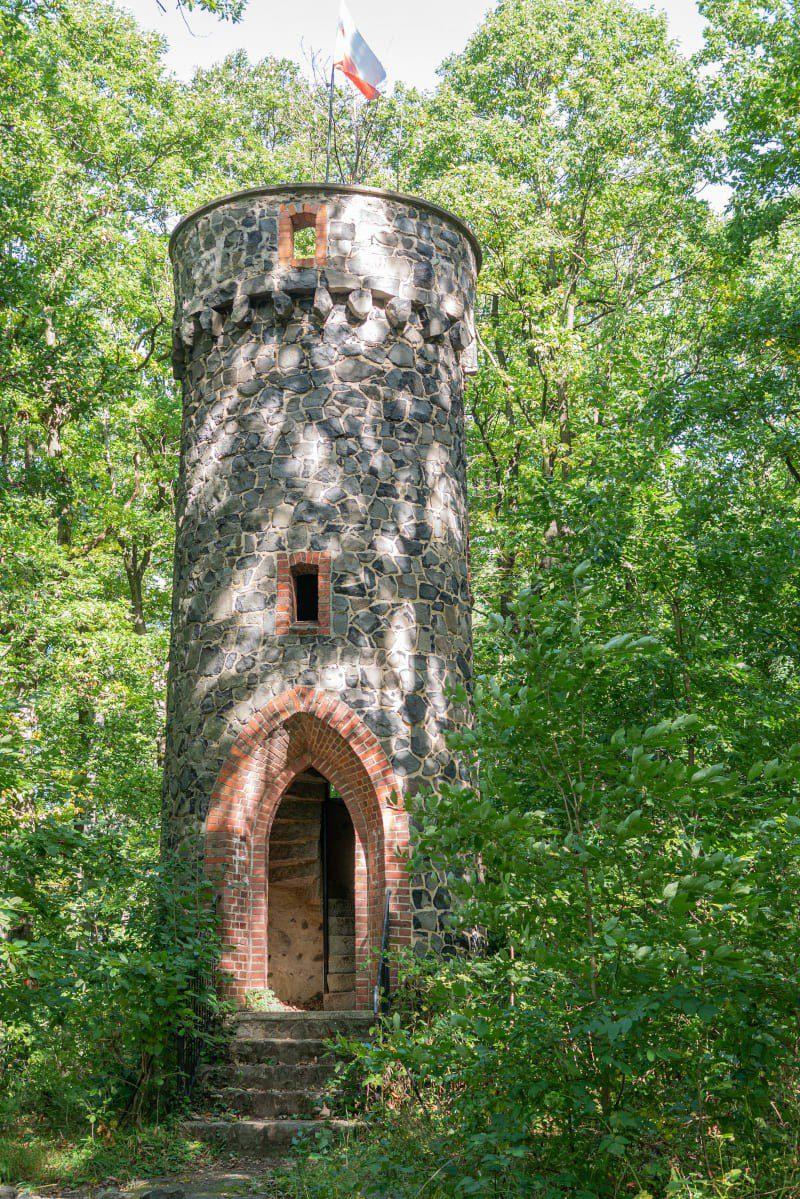 Widok Z Wieży Widokowej Bazaltowa Góra Szlak Turystyczny Pogórze Kaczawskie Atrakcje Ciekawe Miejsca Na Dolnym Śląsku