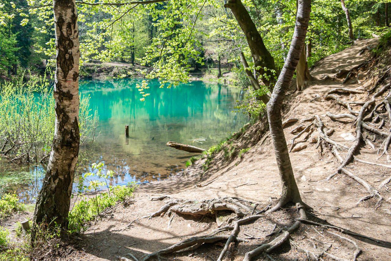 szlak niebieskie jeziorko rudawy janowickie